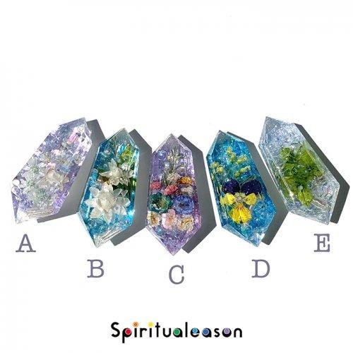 Spiritualeason:スピリズ/フラワーオルゴナイトクリスタル 背景カラーチェンジ・ブルー