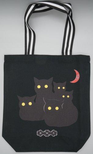 夜の黒猫 トートバッグ/ Radiostar 銀鉤舎