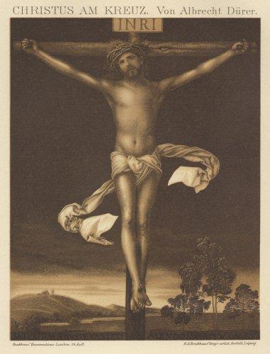十字架上のキリストの図版(ドイツ1895年頃)