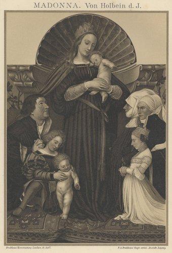聖母マリアの図版(ドイツ1895年頃)