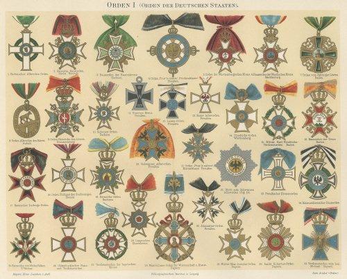 勲章の図版(ドイツ1895年頃)