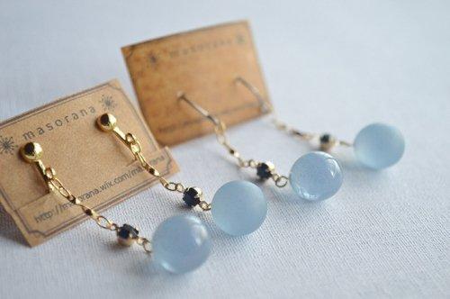 満月の耳飾り-青い月-/*masorana*