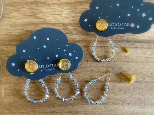 Radiostar/月と星の欠片ピアス