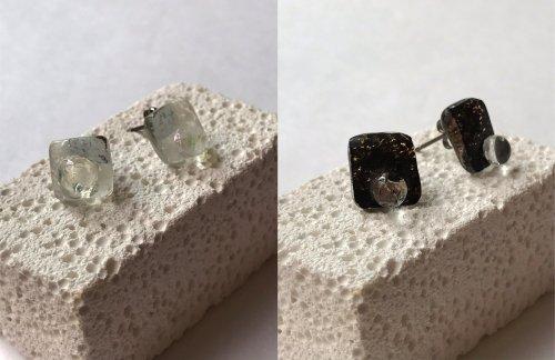 micat glass/ガラスのピアスAタイプ