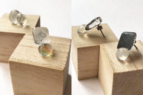 micat glass/ガラスのピアスBタイプ