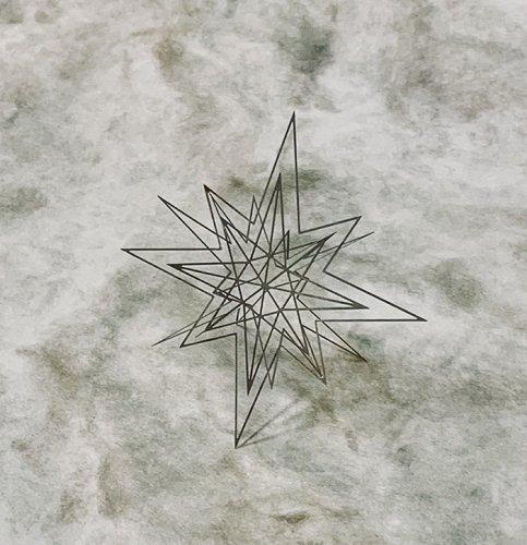 Geometry ジオメトリー 星型のオブジェa 洋白/ものづくりの部屋