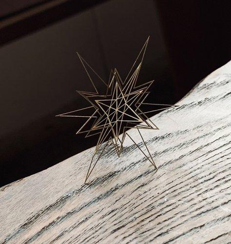 Geometry ジオメトリー 星型のオブジェa 真鍮/ものづくりの部屋