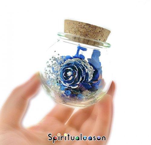 Spiritualeason:スピリズ/フラワーボトルオルゴナイト【ラピスラズリベース】
