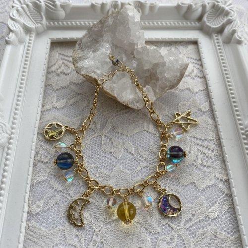 Beads no moto/三日月と星のブレスレット
