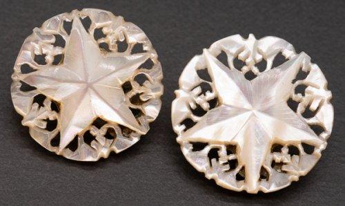 ベツレヘム マザーオブパールのイヤリング/ベツレヘムの星