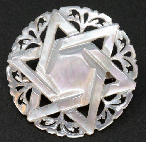 ベツレヘム マザーオブパールのブローチ/ベツレヘムの星
