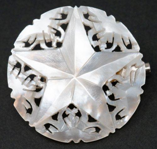 ベツレヘム マザーオブパールのブローチ(ピンに難あり)/ベツレヘムの星