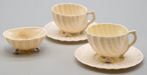 ベリーク・ネプチューン・デミタスカップ&ソーサー2客セット+小皿