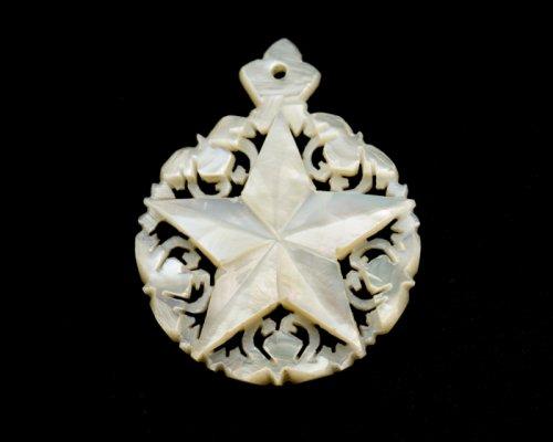 ベツレヘム マザーオブパールのペンダントトップ/ベツレヘムの星