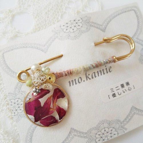 ストールピン (ミニ薔薇)/mo.kamie