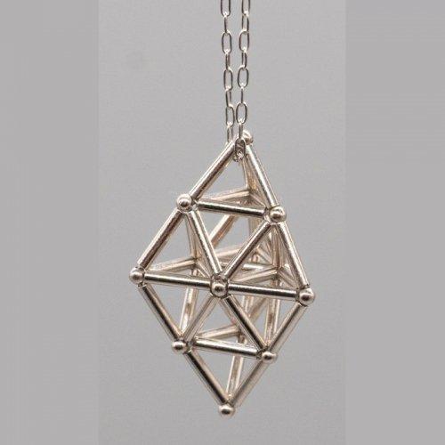 正四面体2個対称ネックレス/海宙屋-misoraya-