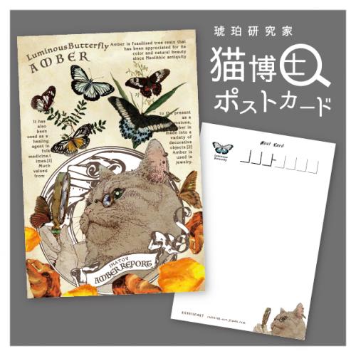猫博士ポストカード/ラビッシュアート