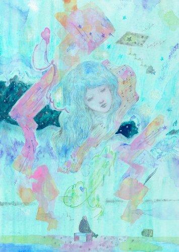 「未発表曲」/永井健一 絵画展「鼓動が貴方を數える」期間限定販売