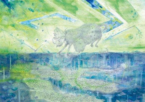 「天地図」/永井健一 絵画展「鼓動が貴方を數える」期間限定販売
