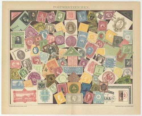 古い切手の図版 (ドイツ1895年)