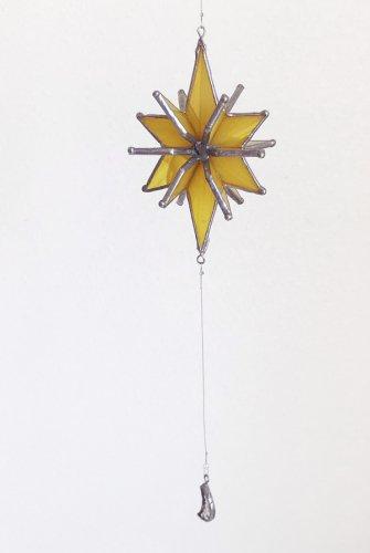 星のサンキャッチャー黄色/micat glass