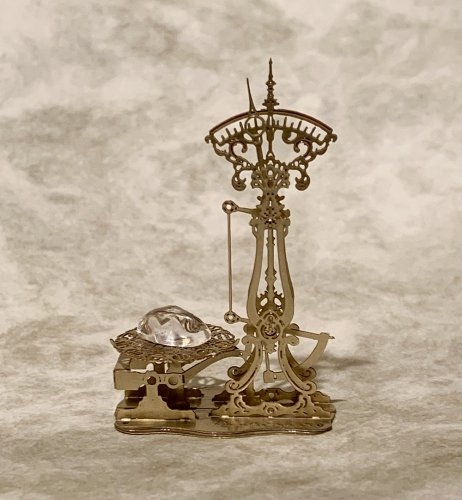 十二星座の鉱石秤(こうせきばかり) Lサイズミニチュア完成品/ものづくりの部屋