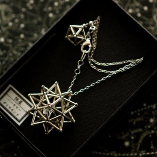 -恒星- ハーキマーダイヤモンド ネックレス・ピアス・ノンホールピアス/海宙屋-misoraya-