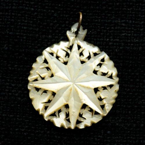マザーオブパールのペンダントトップ/ベツレヘムの星