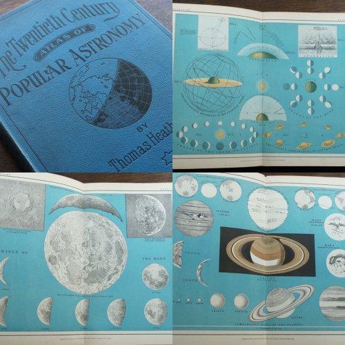 天文古書「The Twentieth Century Atlas Of Popular Astronomy」(イギリス 1922年)