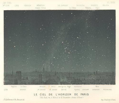 天文図版「Le Ciel」(フランス 1877年)
