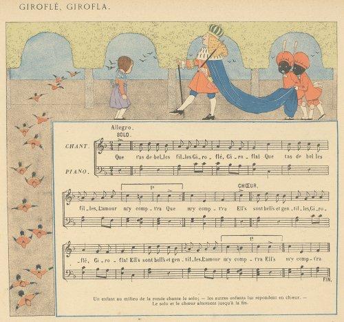 「子どものためのフランス童謡集」リトグラフ(フランス1920年頃)