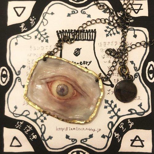 eyeネックレス(パープル)/eerie-eery