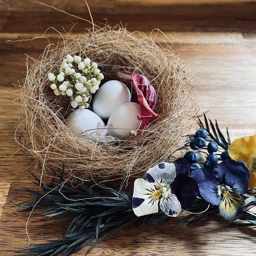 春の森小鳥の巣アロマストーン/雨花