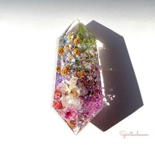 【フラワーオルゴナイトクリスタル/春の花々】/Spiritualeason:スピリズ