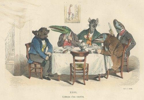 J・J・グランヴィル『現代版変身譚 改訂新版』(フランス1854年)