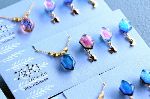 Blue collection・ピアス&ネックレス /トキシル・ハ(8月8日21時-8月22日21時販売)<img class='new_mark_img2' src='https://img.shop-pro.jp/img/new/icons14.gif' style='border:none;display:inline;margin:0px;padding:0px;width:auto;' />