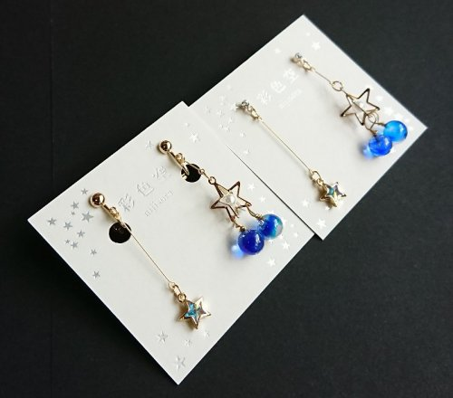 twinkle star イヤリング&ピアス/彩色空nijisora(8月8日21時-8月22日21時販売)<img class='new_mark_img2' src='https://img.shop-pro.jp/img/new/icons14.gif' style='border:none;display:inline;margin:0px;padding:0px;width:auto;' />