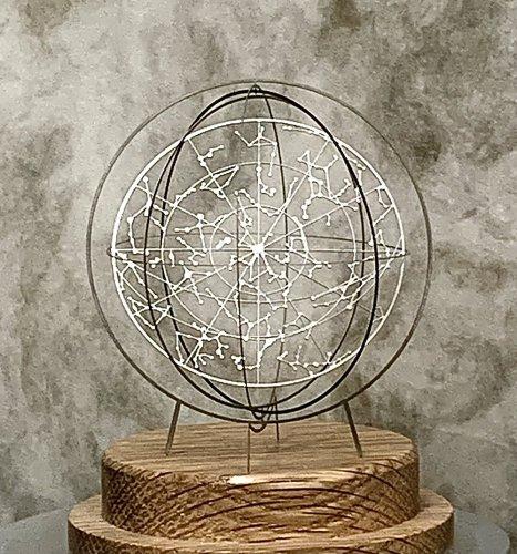 Celestial globe-ラウンド型 天球儀-(洋白タイプ)/ものづくりの部屋(8月8日21時-8月22日21時販売)<img class='new_mark_img2' src='https://img.shop-pro.jp/img/new/icons14.gif' style='border:none;display:inline;margin:0px;padding:0px;width:auto;' />