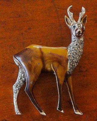 鹿のブローチ(1960's)