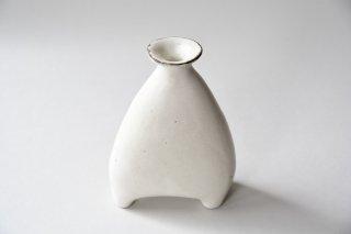 石岡信之 白てびねり花器