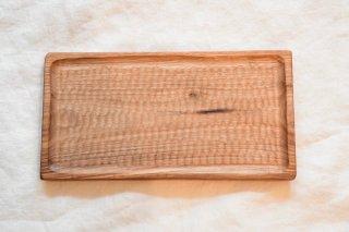 (ご予約)木工房PUU 小沢賢一 くるみのトレー 15cm×28cm