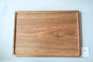 (ご予約)木工房PUU 小沢賢一 くるみのトレー 40cm×28cm