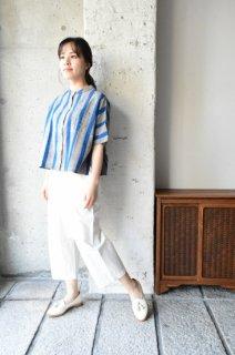 (ご予約)ヤンマ産業 会津木綿スタンドカラーシャツ袖付き ASC-SH-SD