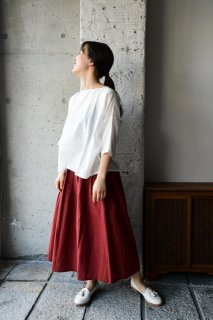 (WEB受注)はらっぱ×ヤンマ産業 はらっぱの会津木綿で作るタックスカート TAC-SK