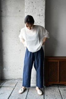 (WEB受注)はらっぱ×ヤンマ産業 はらっぱの会津木綿で作るダボダボパンツ ADB-PT