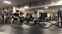 ボルダリングもリードもバトルロープトレーニングで耐乳酸性強化