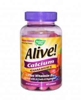 カルシウム ビタミンD3 グミ60粒 ※子供の骨発達と大人のケガ防止 ※D3が1000UIが最高量 ※おいしいグミ ※感謝セール10%OFF