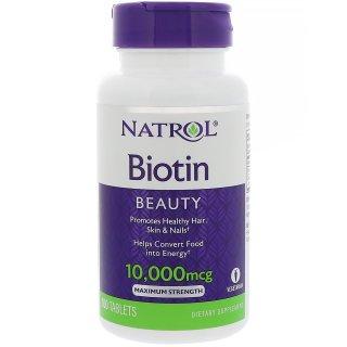 Natrol ビオチン 10,000mcg 100錠 ※指皮再生促進 硬くなる皮膚に ※アトピーや膿疱にも