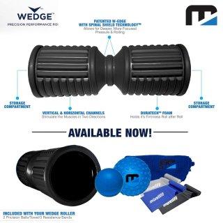 マッスルローラーセット 筋膜ローラー/マッサージボール/ゴムバンドを内蔵 ※最新形状とベストな硬さのパーフェクトセット