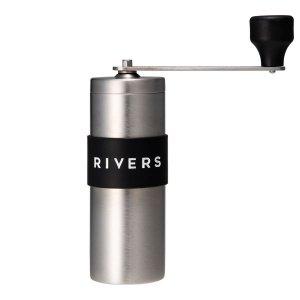 RIVERS(リバーズ) コーヒーグラインダー グリット シルバー/ブラック ※固定セラミック刃で均一な挽き具合